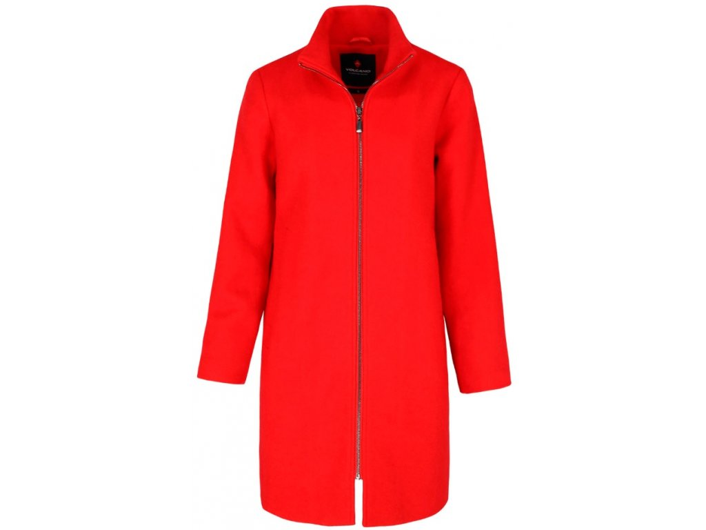 Dámský kabát Volcano J-GALLA 400 červená
