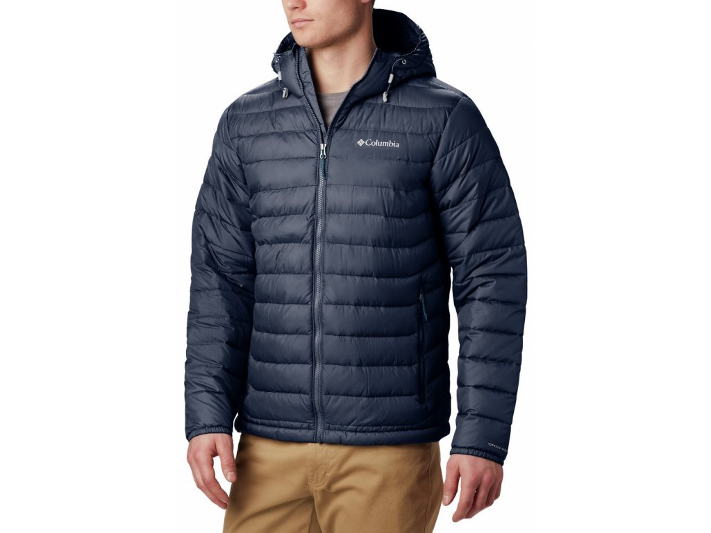 Pánská bunda Columbia Powder Lite ™ Hooded Jacket 468 modrá