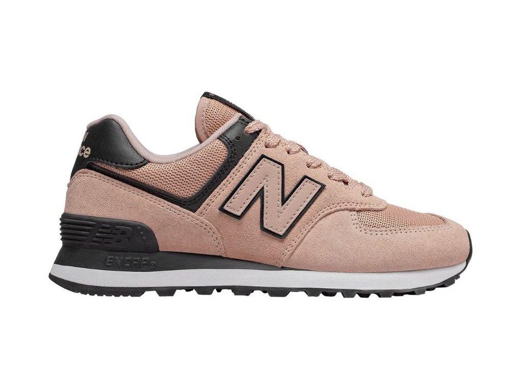 Dámská lifestylová obuv New Balance WL574 WEG růžová