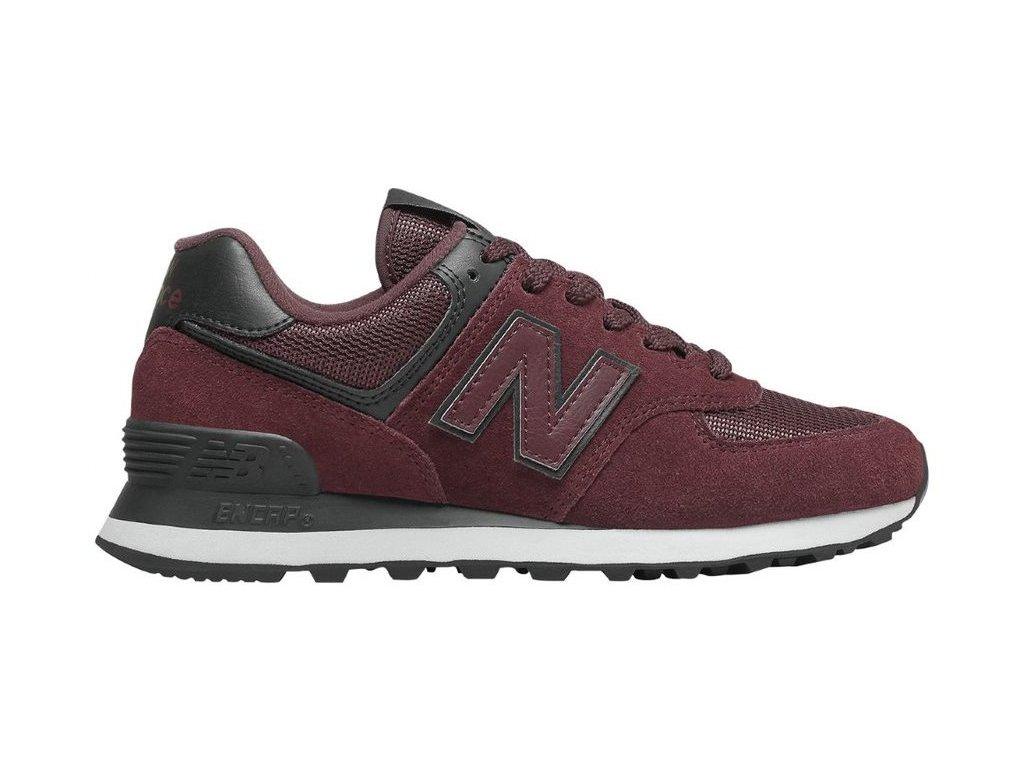 Dámská lifestylová obuv New Balance WL574 WNR červená