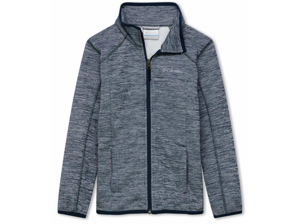 Juniorská mikina Columbia Wilderness Way™ Fleece Jacket 464 šedá