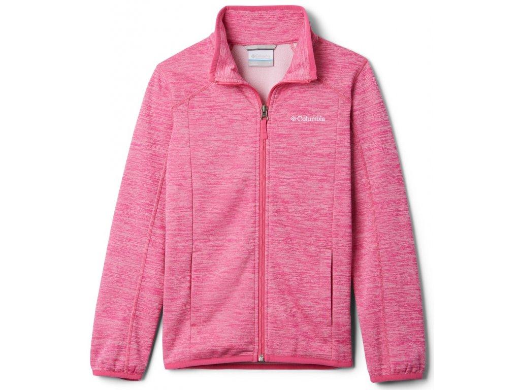 Juniorská mikina Columbia Wilderness Way™ Fleece Jacket 695 růžová