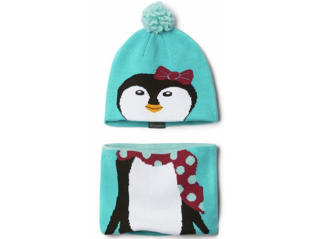Dětský set Columbia Youth Snow More™ Hat and Gaiter Set 336 modrá