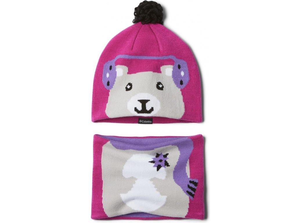 Dětský set Columbia Youth Snow More™ Hat and Gaiter Set 695 růžová
