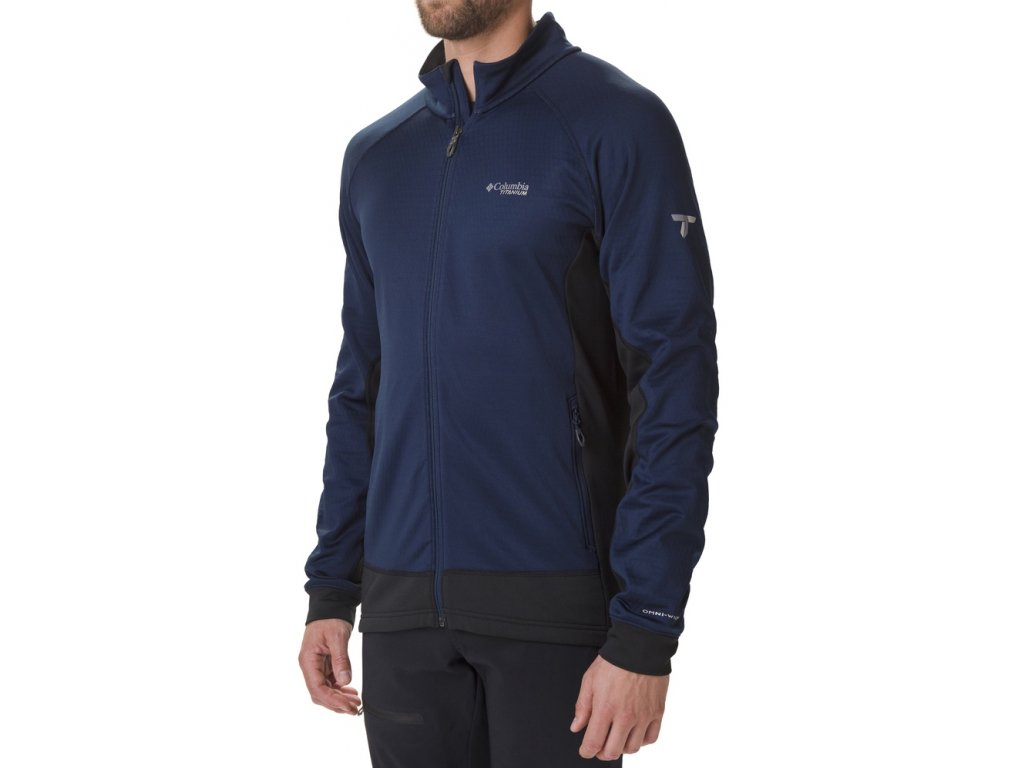 Pánská mikina Columbia Mount Defiance™ Fleece 464 modrá