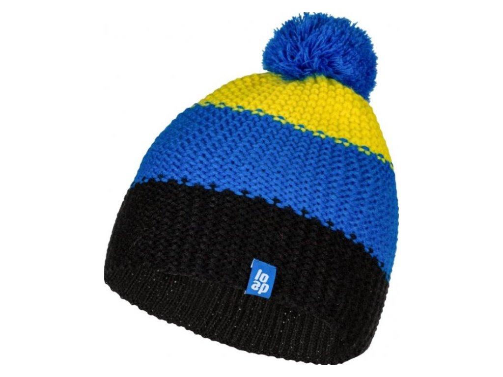 24660 loap zonko detska zimni cepice zluta modra csk1901c09l