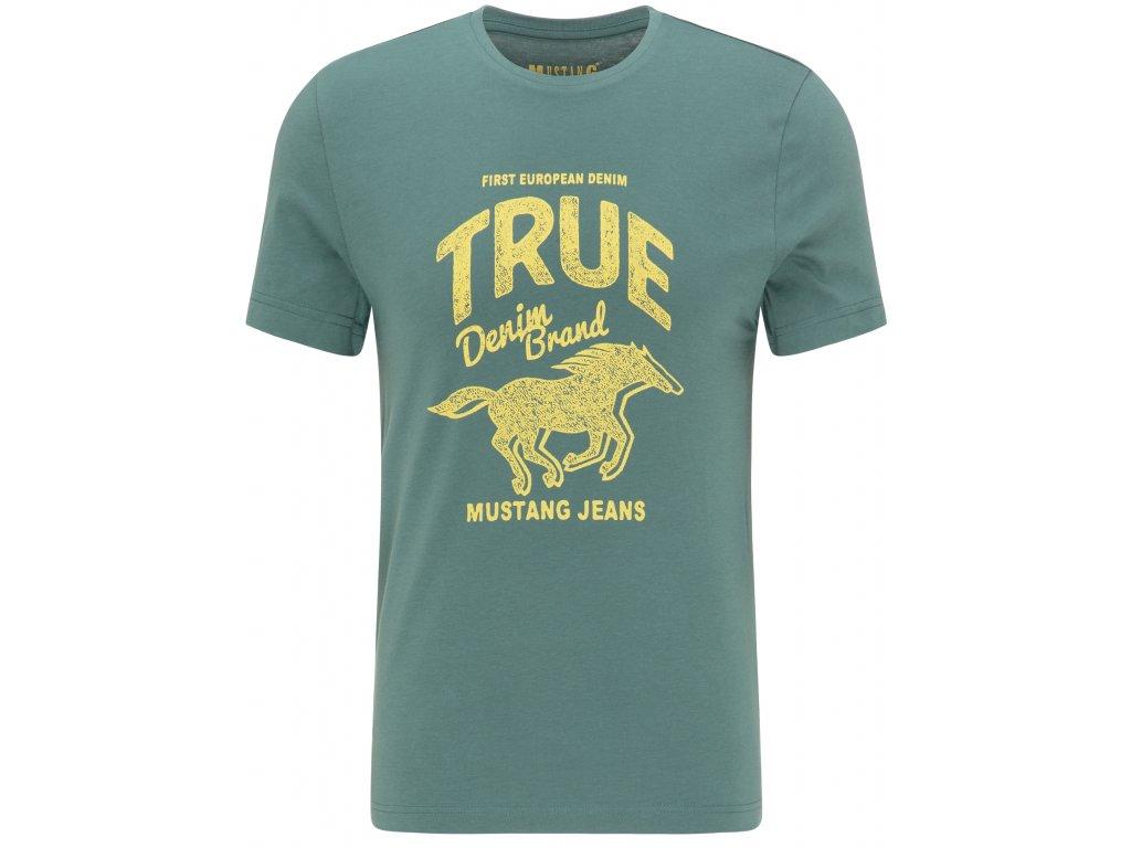 Herren T Shirt Print Shirt Mustang gruen 1009506 6430 1B