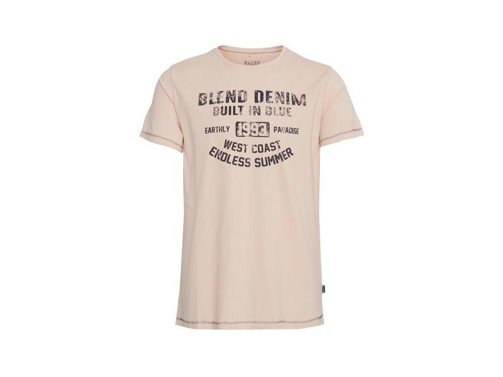 Pánské tričko Blend 20710131 73867 béžová
