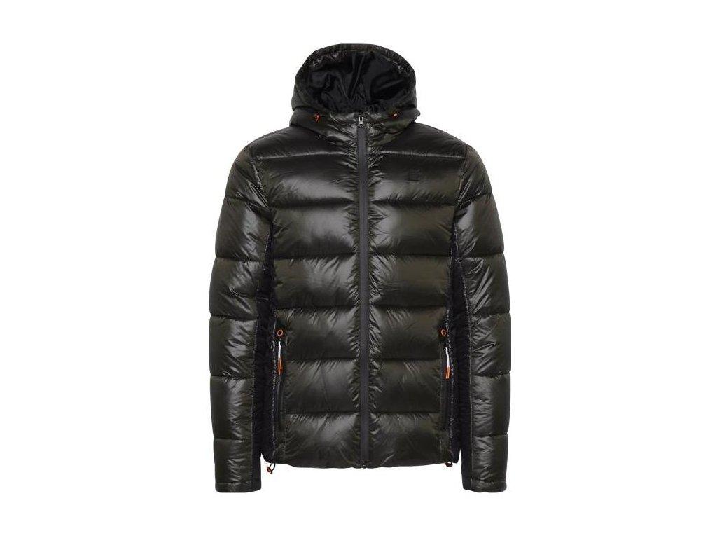 Pánská zimní bunda Blend 20711660-190509 černá/tmavě zelená