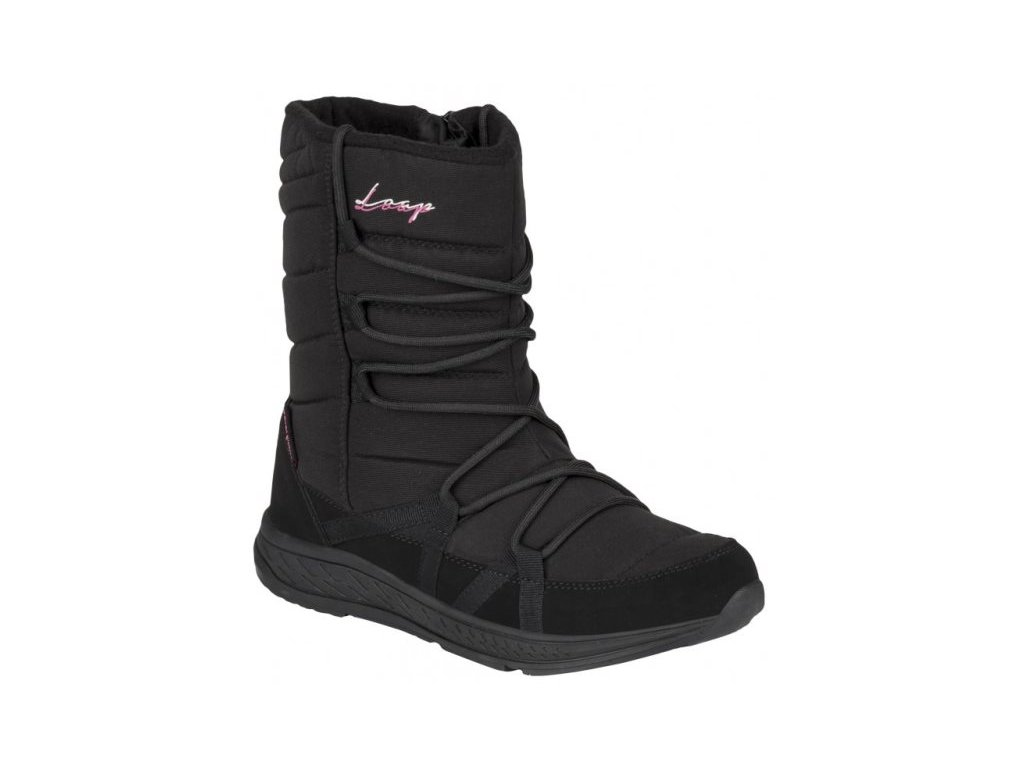 25721 3 loap altena damske zimni boty cerna ruzova sbl18105v11j