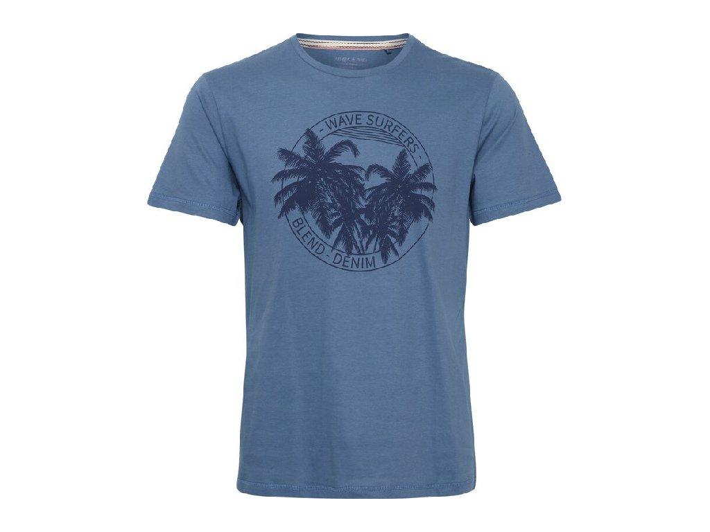 Pánské tričko Blend 20712073 184027 modrá