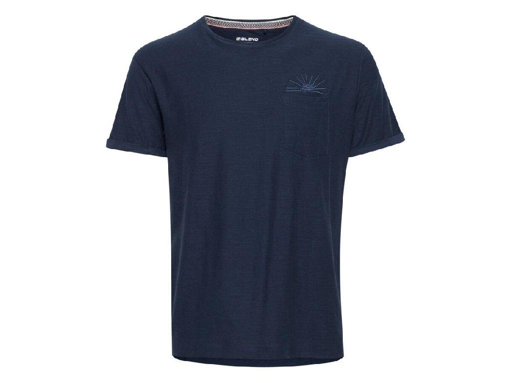 Pánské tričko Blend 20712076 194024 modrá