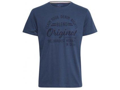 Pánské tričko Blend 20712439 194026 modrá