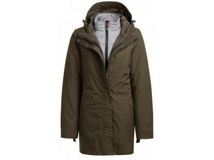 Dámský kabát Outhorn KUDT600 Khaki Khaki