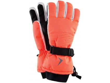Dámské lyžařské rukavice Outhorn RED603 Coral oranžová