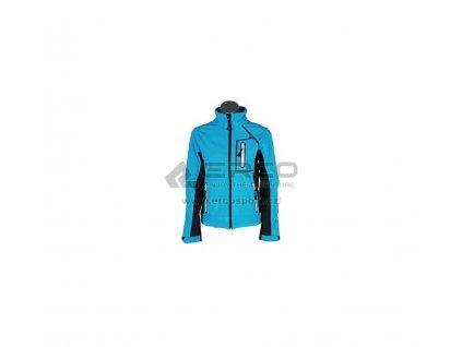 Dámská softshellová bunda Hi-Tec LADY ERNA Scuba blue-black/white