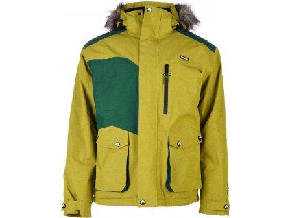 Pánská zimní bunda Elbrus FINBAR BUTTERNUT/SHAD.GREEN zelená