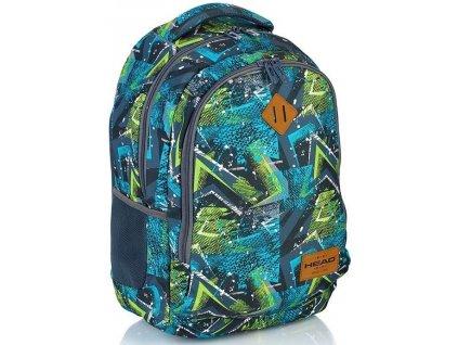 Školní batoh HEAD 79003 modrá/zelená