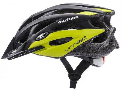 Cyklistická helma Meteor 24707 black/green zelená