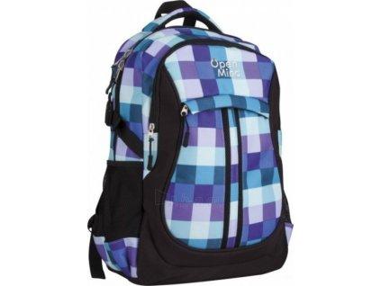 Školní batoh Open mind 75448 kwadraty modrá