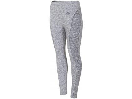 Dámské termo kalhoty 4F BIDB004D Warm l.grey mel. šedá
