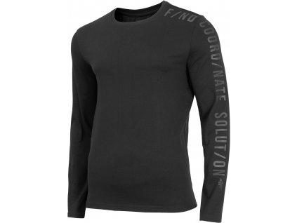 Pánské triko 4F TSML070 Deep black černá