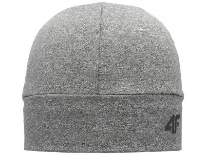 Čepice 4F CAU002 Mid grey mel. šedá