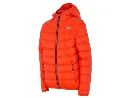 Dětská zimní bunda 4F JKUM001 Orange Tomato