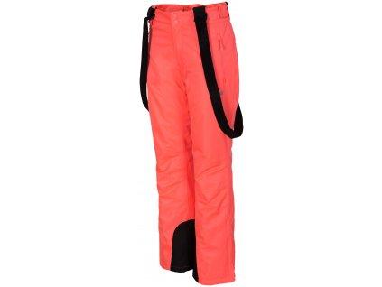 Dámské lyžařské kalhoty 4F SPDN351 Salmon coral 64S oranžová