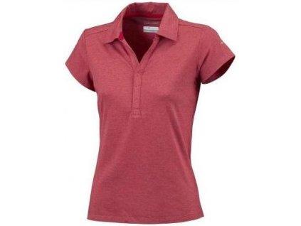 Dámské polo tričko Columbia HADOW TIME Red Hibiscus červená