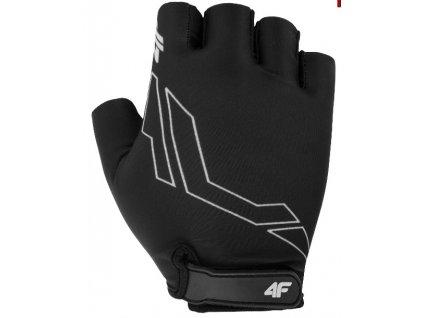 Cyklistické rukavice  4F RRU001 Czarny černá