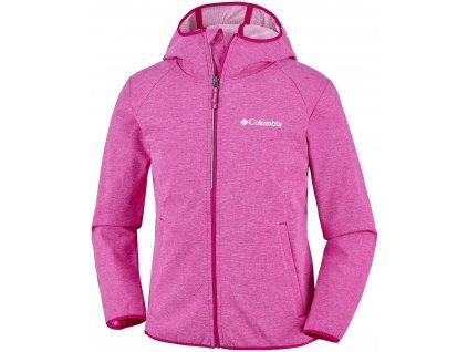 Dětská bunda Columbia Heather Canyon™ Softshell Jacket 627 růžová