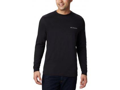 Pánské tričko Columbia Columbia Lodge™ LS Graphic Tee 010 černá