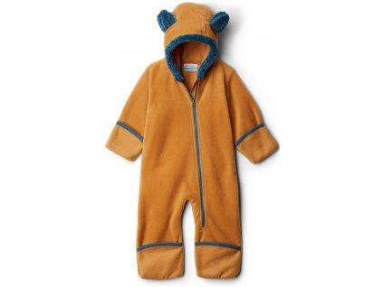 Dětská fleecový overal Columbia Tiny Bear™ II Bunting 708 hnědá