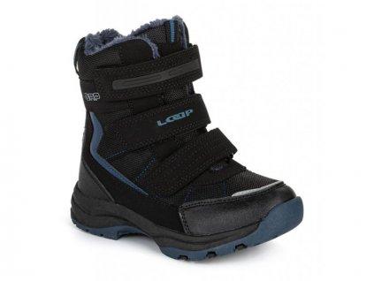 25040 3 loap sneeky detske zimni boty cerna kbj1888v20l