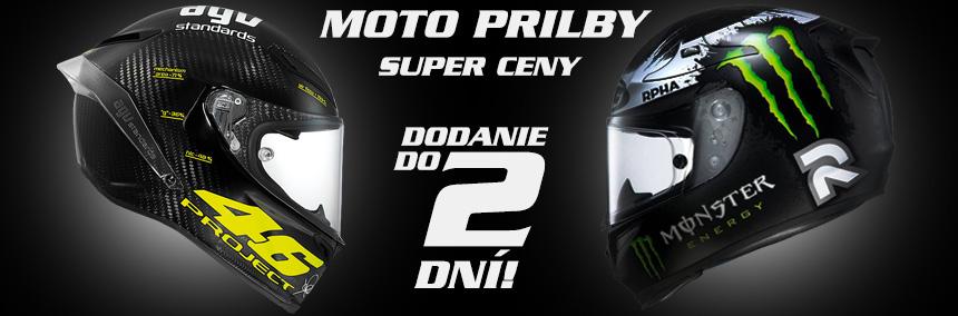 Moto prilby AGV, SHARK, HJC, MDS, NOLAN, X-LITE, LS2, SHIRO, SUOMY, SCHUBERTH, ROOF