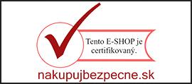 Náš e-shop je certifikovaný a spĺňa všetky zákonom stanovené podmienky.