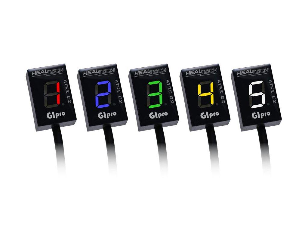 GIPRO ATRE G2 Ukazovateľ zaradenej rýchlosti pre moto HEAL TECH