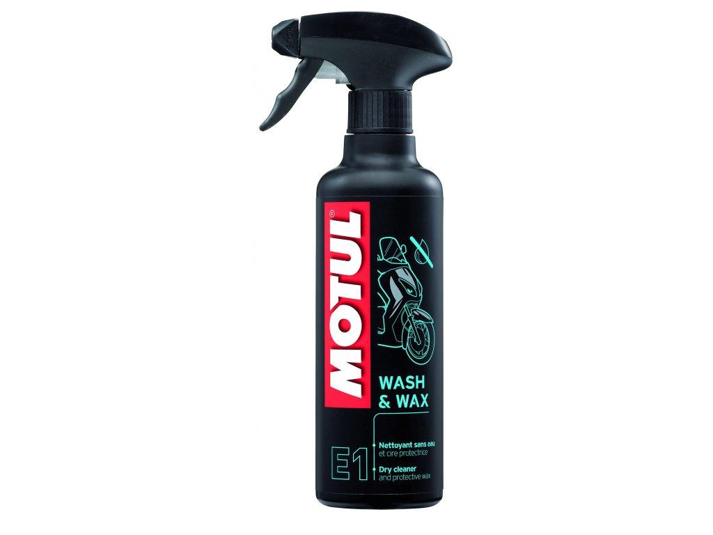 Motul WASH & WAX E1 suchý čistiaci prostriedok 400ml