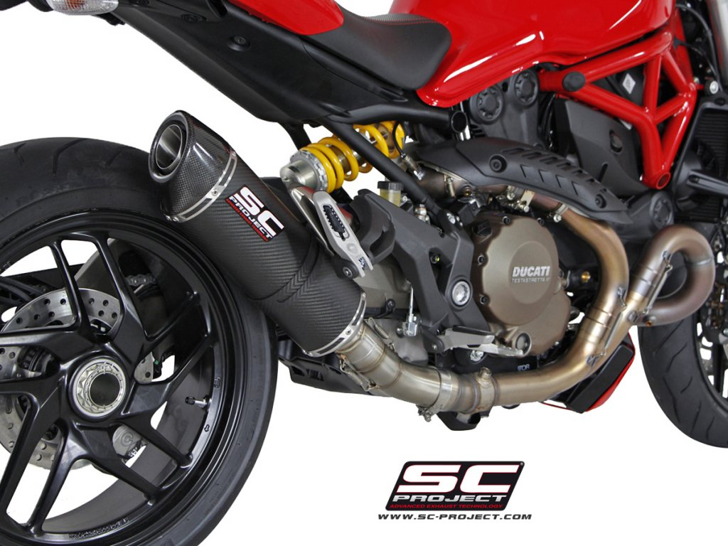 Výfuk SC Project DUCATI MONSTER 1200/S 14-16 OVAL D12-01C