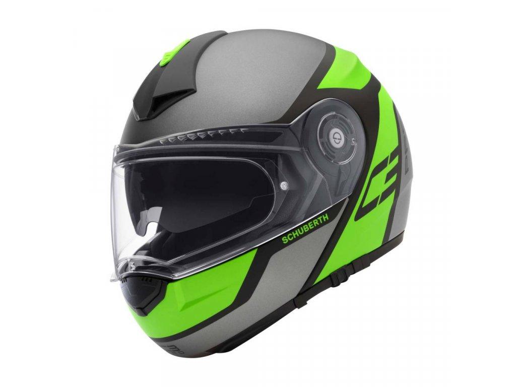 prilba na moto schuberth c3pro echo green
