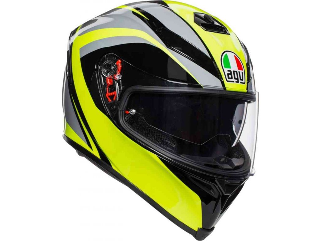 Prilba AGV K-5 S Typhoon Black Grey Yellow Fluo