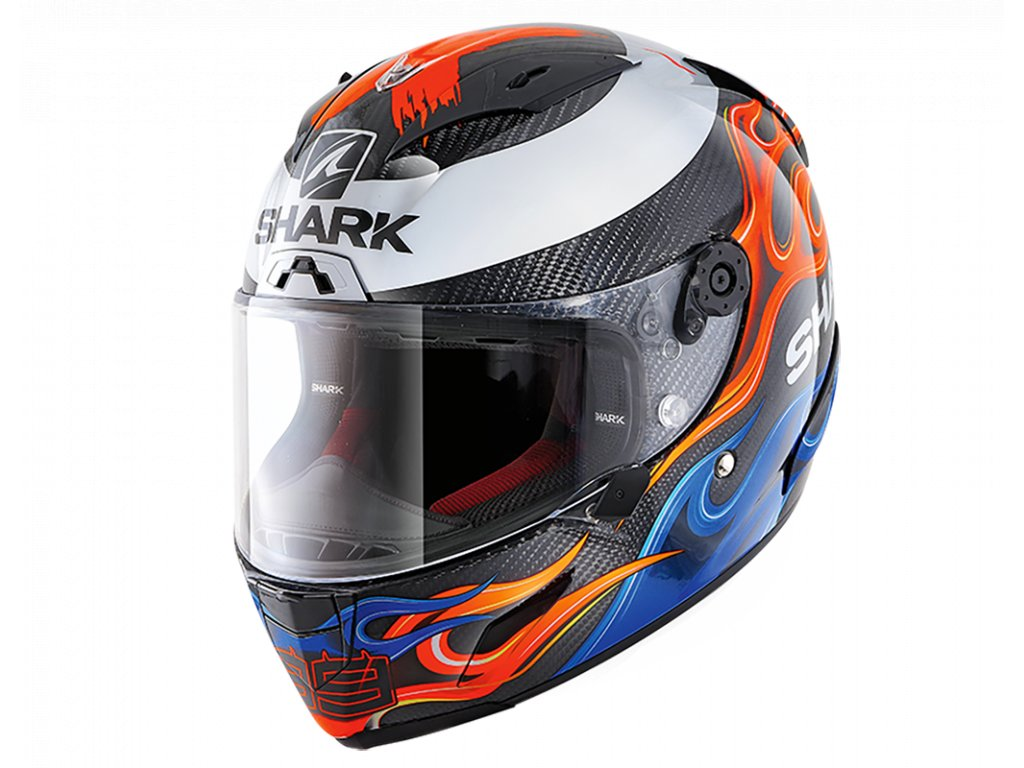 prilba na moto shark race r pro carbon lorenzo 2019 blue red dbr