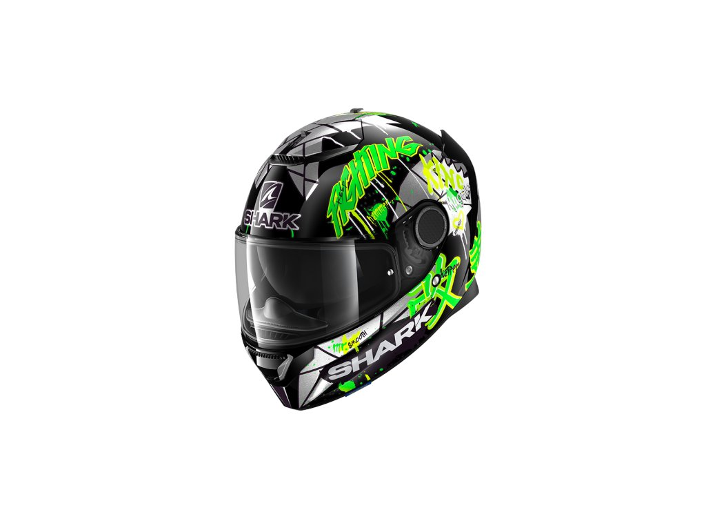 Prilba SHARK SPARTAN Lorenzo Catalunya GP Black Green Glitter KGX
