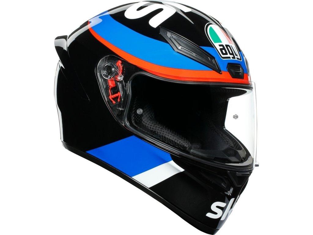 Prilba AGV K1 VR46 SKY Racing Team Black Red