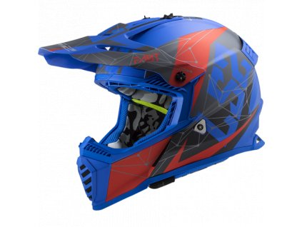 Prilba LS2 MX437 Fast Evo Alpha Matt Blue