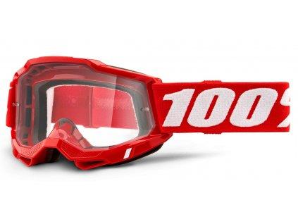 Okuliare ACCURI 2 100% - červené, číre plexi
