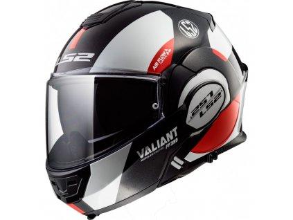 Prilba LS2 FF399 Valiant Avant White Black Red