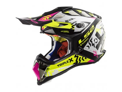 Prilba LS2 MX470 Subverter Black Pink H-V Yellow
