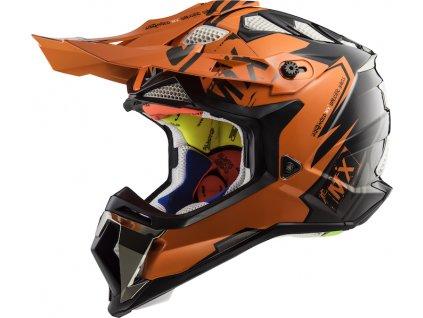 prilba na moto ls2 mx470 subverter emperor black orange
